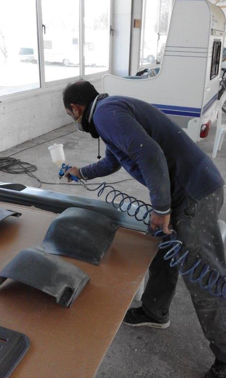 Επιδιόρθωση και βάψιμο προφυλακτήρων αυτοκινούμενου