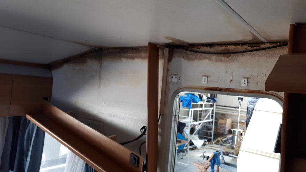 Επιδιόρθωση υγρασίας σε Knaus Eurostar